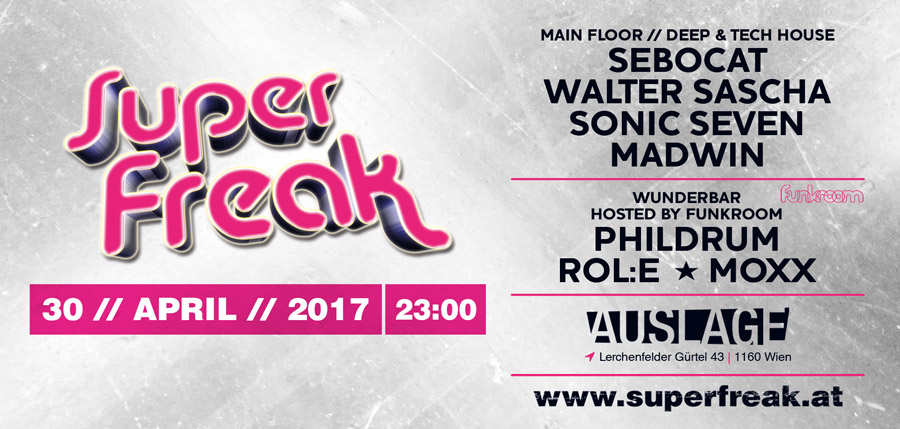 Superfreak! Flyer 2017