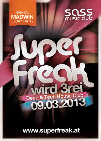 Superfreak! Flyer 3rei